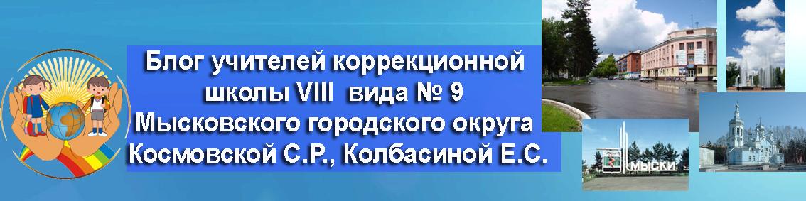 Блог учителей коррекционной школы VIII вида № 9 Космовской С.Р., Колбасиной Е.С.
