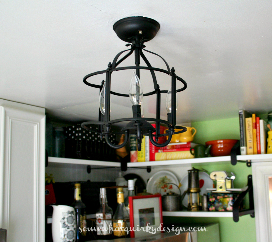 Somewhat Quirky: A Sorta New Kitchen Light