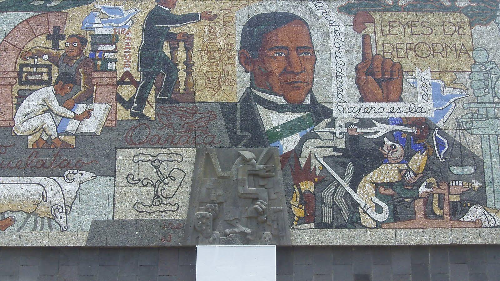 Benito juarez and the zapotecs the birthplace of benito for Benito juarez mural