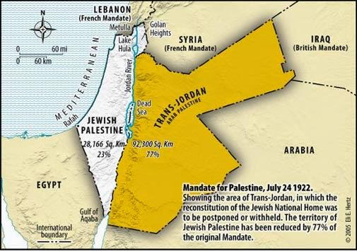 Gambar: Trans jordan dan Palestina