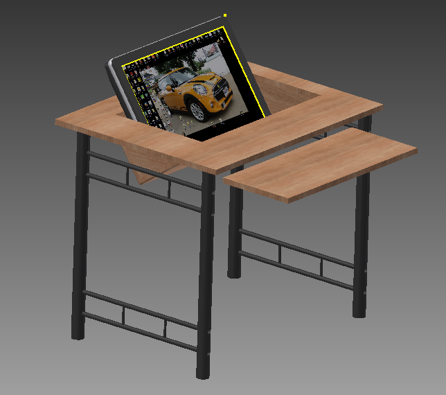 The Tinkers Workshop Recessed Computer Monitor Desk