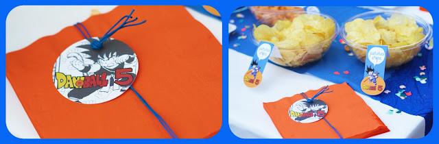 cumpleaños Son Goku by Fiesta y chocolate