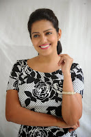 Vishakha Sing in lovely Flower print Black and white Dress cute pics