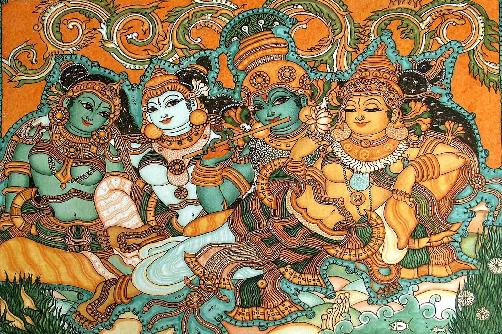 Indian Mural Art Designs : Heritage of India: Kerala Mural Paintings