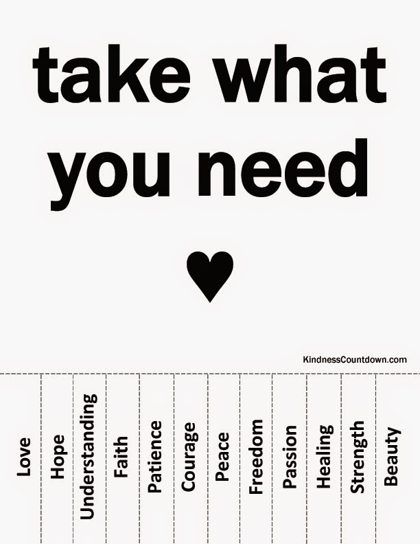 Impertinent image intended for take what you need printable