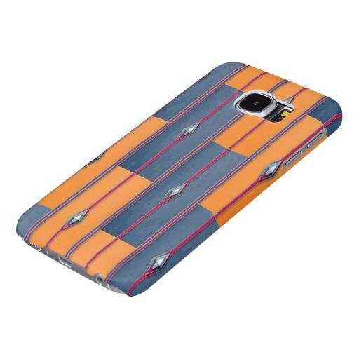 Orange and Teget Orient Samsung Galaxy S6 Cases