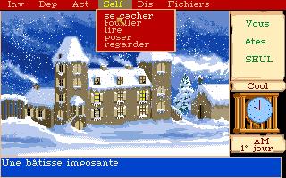 écran de jeu Manoir de Mortevielle