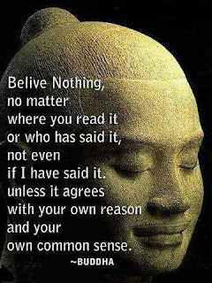 """Believe nothing, no matter where you read it, or who said it, no matter if I have said it, unless it agrees with your own reason and your own common sense."""