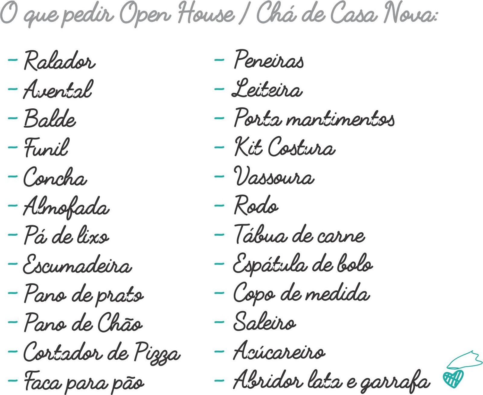 Prefer Ncia Lista De Presentes Para Cha De Casa Nova Gx89 Ivango