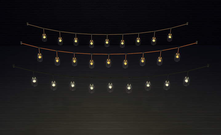 String Lights Sims 4 : My Sims 4 Blog: TS3 Jars of Electric Flies Conversion by OmorfiMera