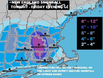 New England Weather Forecast