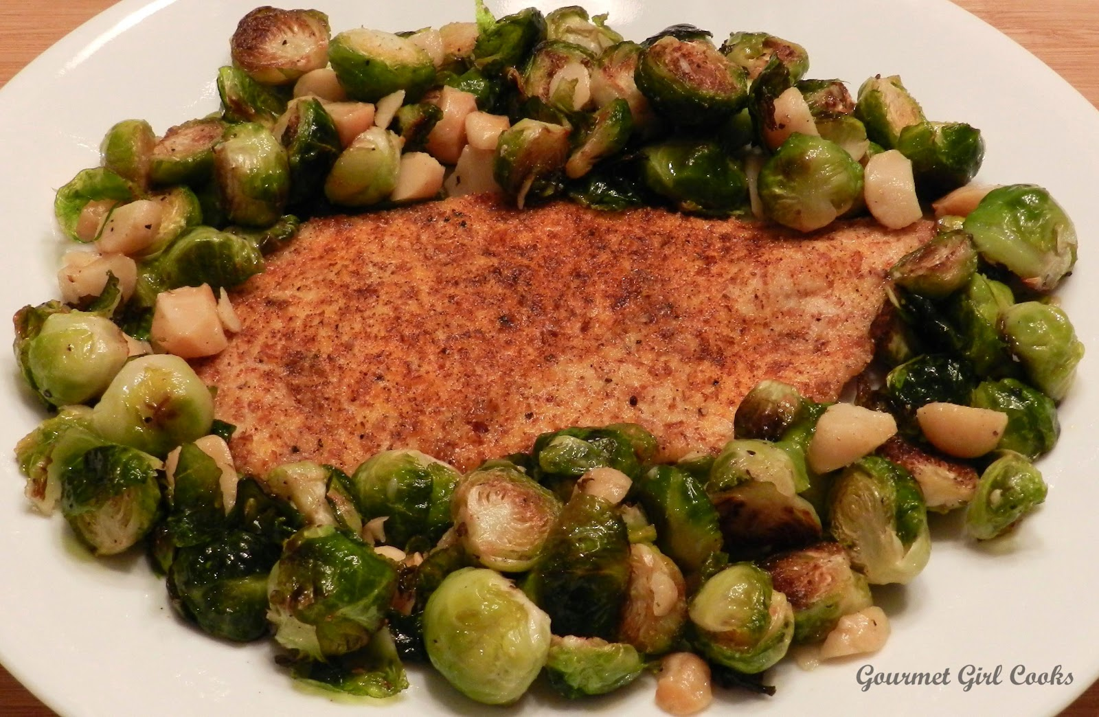 Gourmet Girl Cooks: Roasted Brussels Sprouts w/ Macadamia Nuts