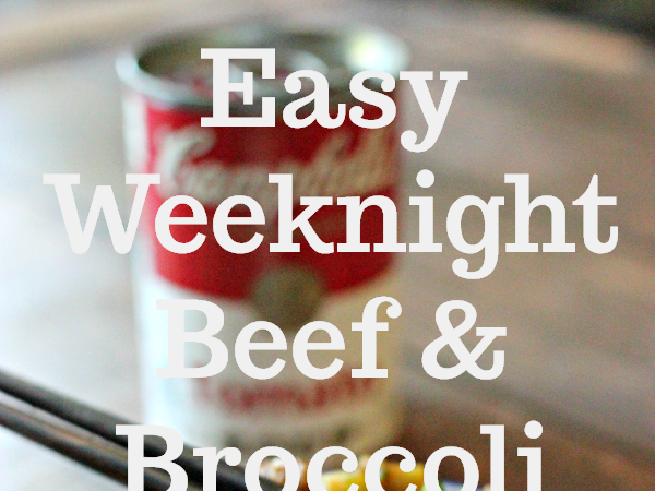 Easy Weeknight Beef and Broccoli and Labels for Education