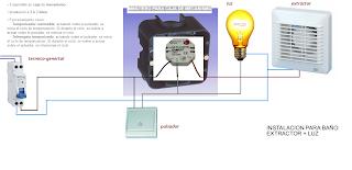 Temporizador instalacion ba o extractor punto de luz - Instalacion extractor bano ...
