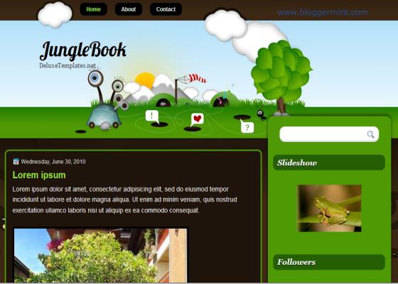 Download Jungle Book Blogger Template - IT Sasak