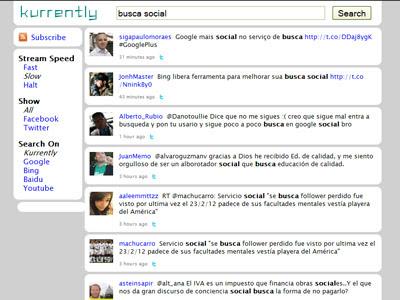 motor de busca social