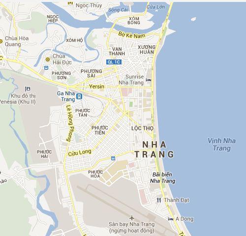 Nha Trang tourist map Nha Trang Vietnam tourist maps