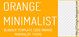 Orange Minimalist Blogger templates