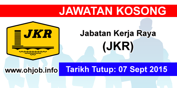 Jawatan Kerja Kosong Jabatan Kerja Raya (JKR) logo www.ohjob.info september 2015