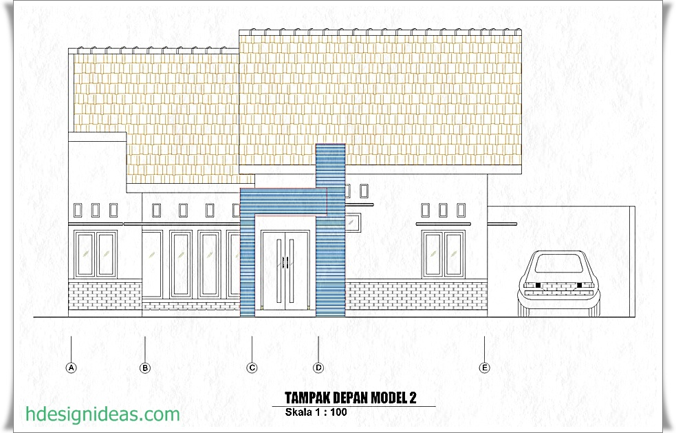 Denah Rumah Ukuran 10 X 10 M Home Design And Ideas