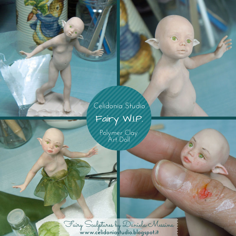 WIP OOAK Fairy in Pasta Sintetica by Celidonia - Daniela Messina