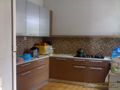 Portfolio interior dapur kitchen set modern minimalis for Kitchen set restoran