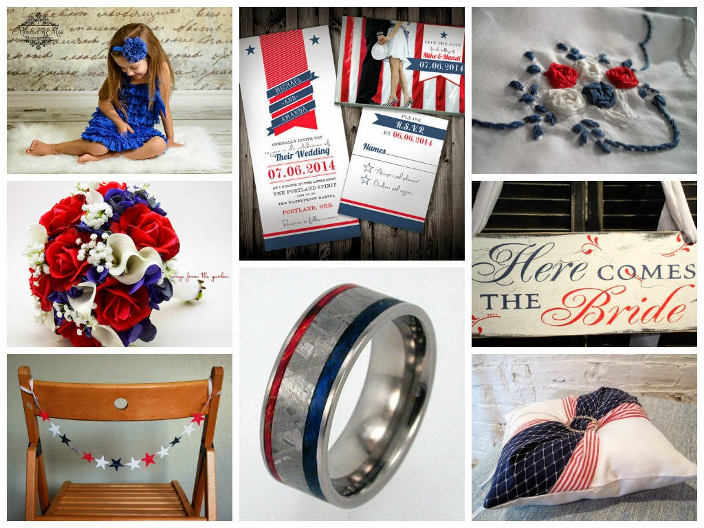 Patriotic Wedding Inspiration Board, curated by Sugarplum Garters