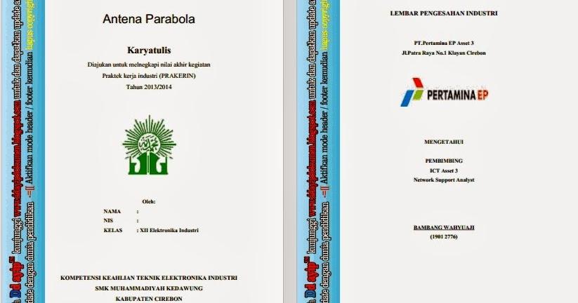 Contoh Laporan PKL Elektronika Industri ~ Ddayip dokumen