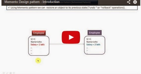 Java ee memento design pattern introduction for Object pool design pattern java example
