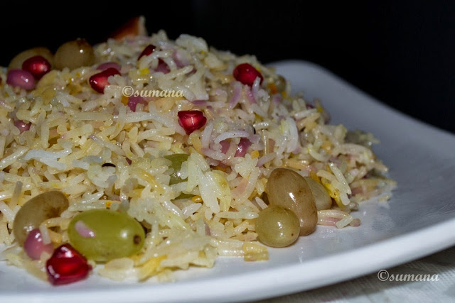 Easy to cook Indian pulao with fruits