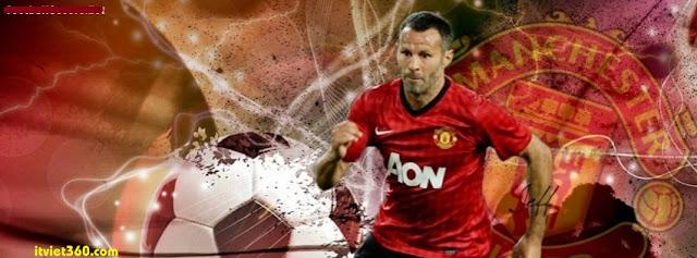 Ảnh bìa Facebook bóng đá - Cover FB Football timeline, ryan giggs manchester United MU