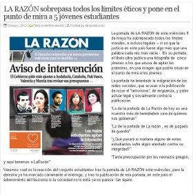 """""""LA RAZÓN"""" SOBREPASA LÍMITES ÉTICOS."""
