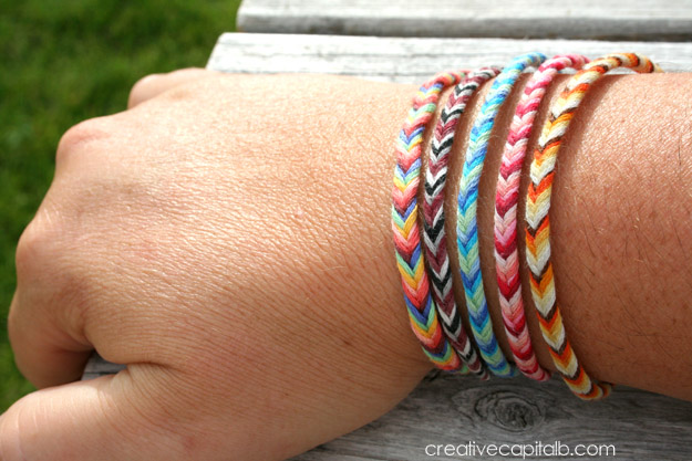 Easy Braided Chevron Friendship Bracelet