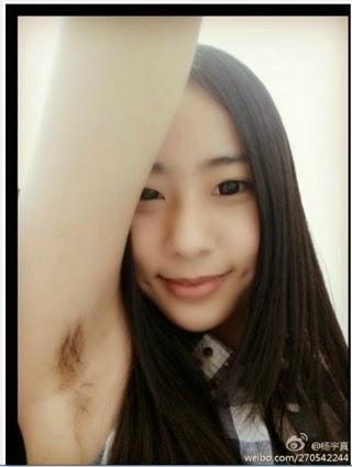 HOT! Selfie Bulu Ketek Sedang Ngetren di China!