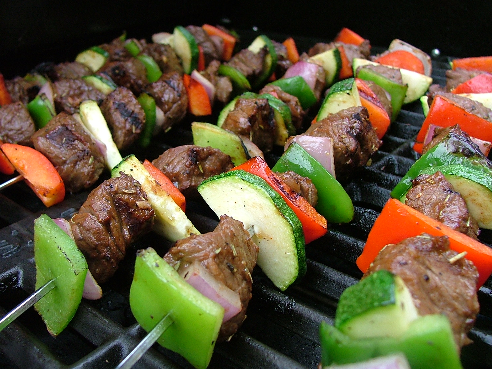 Grilled Vegetable and Beef Skewers | Cook-a-palooza