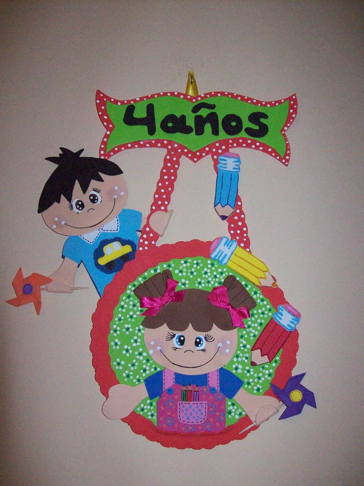 Mi taller de dulces ilusiones cartel fofuchero aula 4 for Decoracion aula infantil