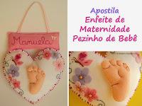 Apostila Enfeite de Maternidade Pezinho de Bebê