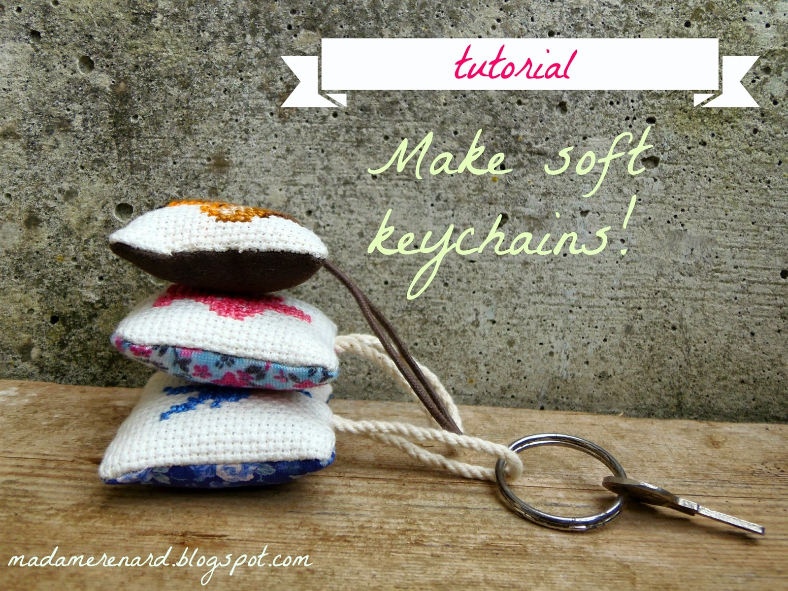 sewing tutorial for beginners - DIY keychain