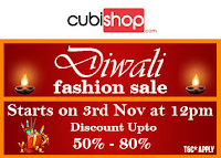(Live at 12PM ) Cubishop Diwali Fashion Offer – Upto 80% Discount on Various Products : Buytoearn