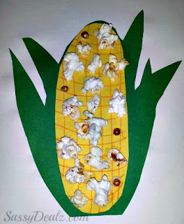 easy fun corn popcorn craft for kids