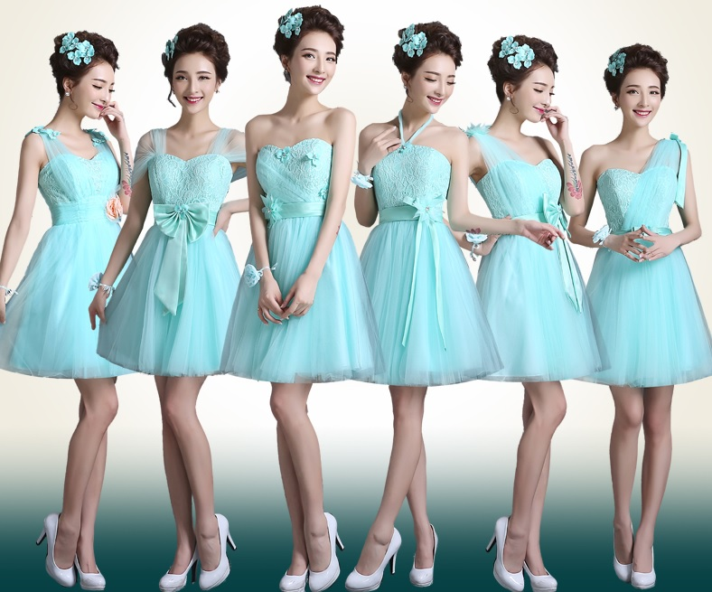 6-Design Soothing Aqua Blue Bridesmaids Dress