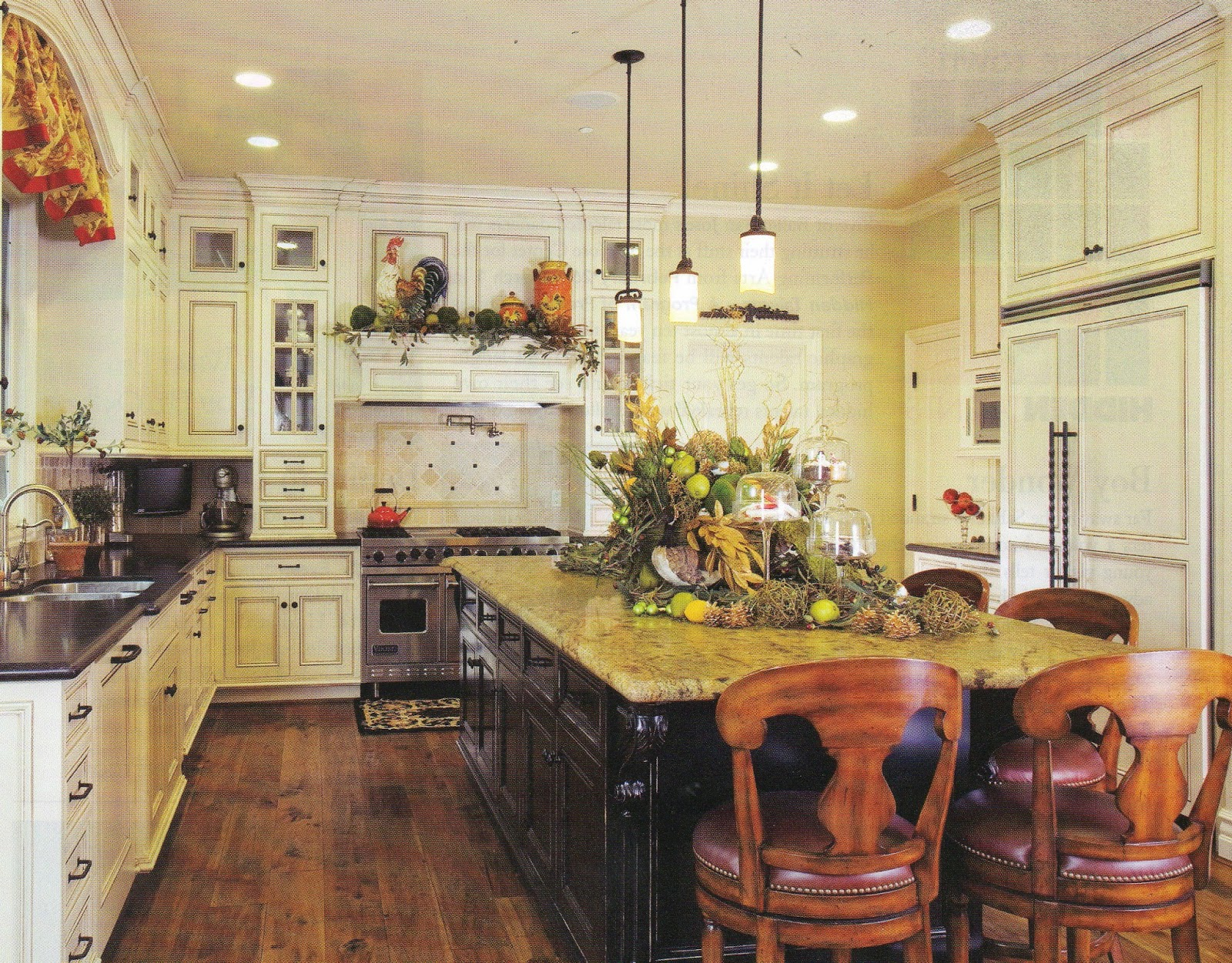 European style kitchen must be accessorized.