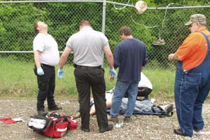 (2006) Working on an AT&T project in Kentucky, cell tower technician Michael Sulfridge fell 380 feet to his death.