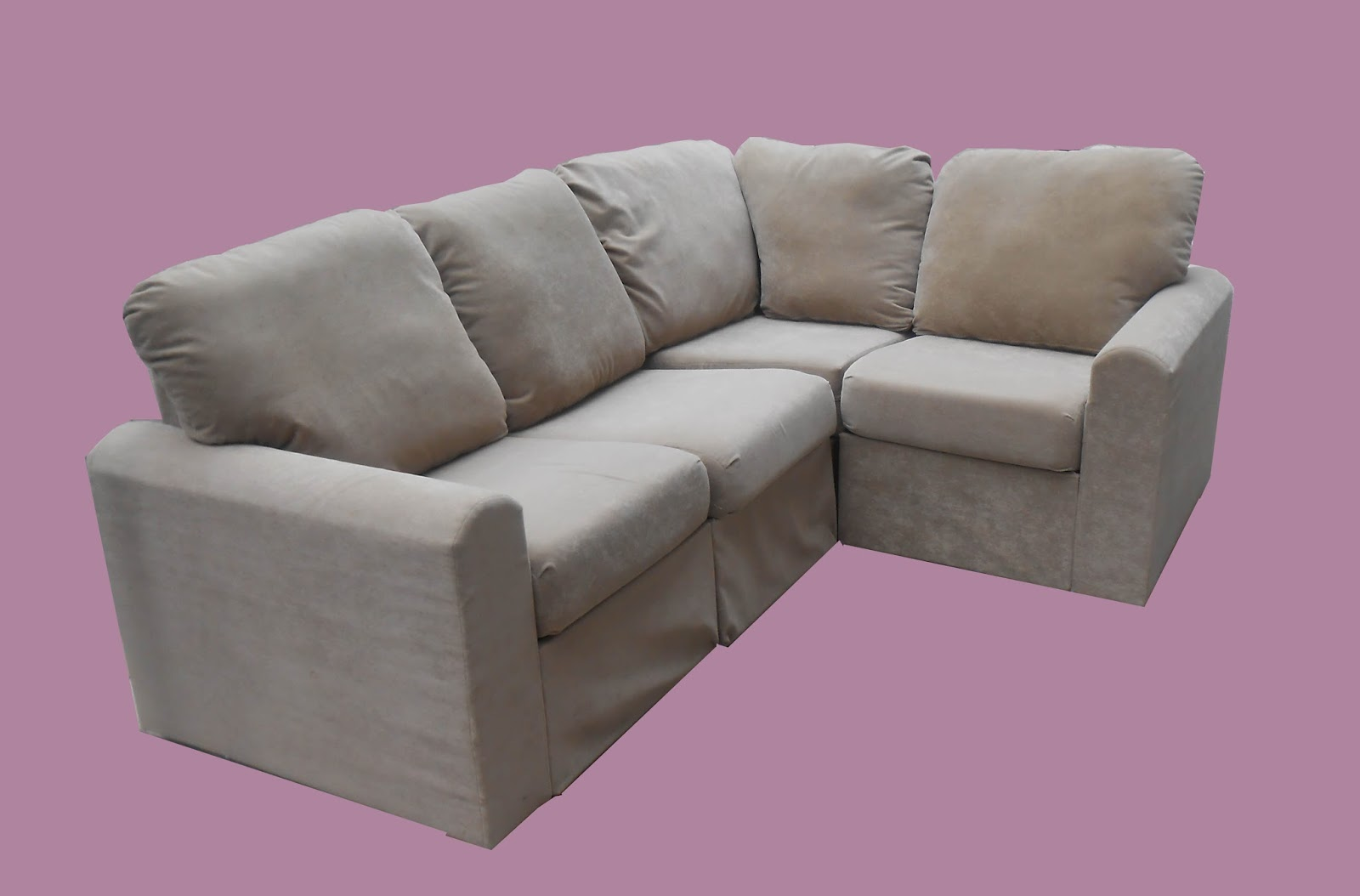 Uhuru furniture collectibles small modular sectional sold - Small space sectional couches paint ...