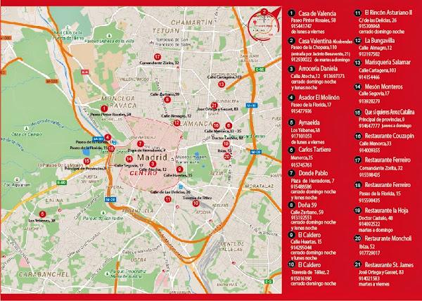Callejero I Ruta de la Paella Madrid