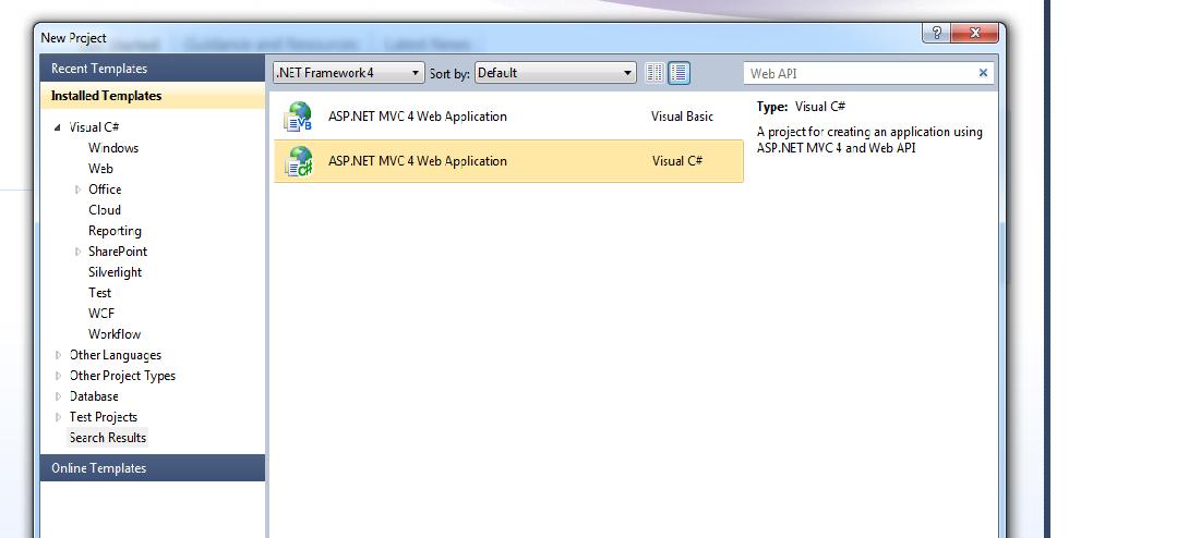 how to create web api controller to mvc 4