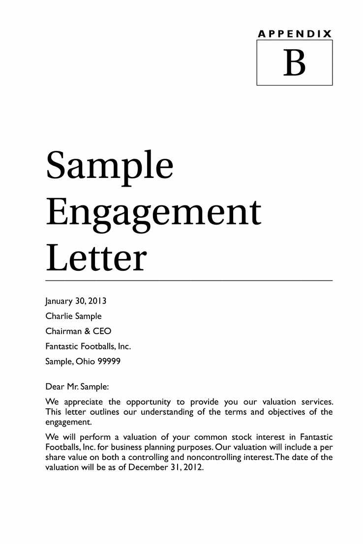 engagement letter 1 The answers to these frequently asked questions engagement, the member may conclude that the owner of the company possesses the skill, knowledge.