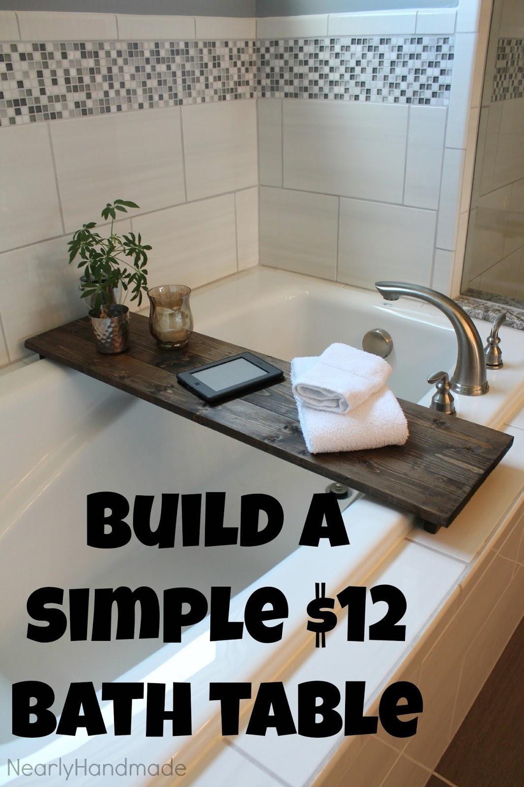 nearly handmade so simple bathtub table