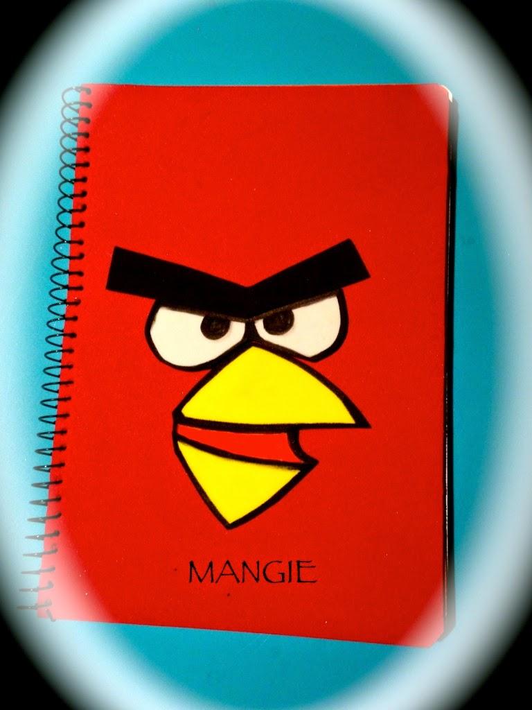 Cuaderno Angry Birds en goma eva