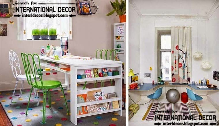 creative study space for kids room, study space organizing ideas and furniture
